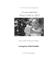 What Child is This, for Piano: For a single performer by folklore