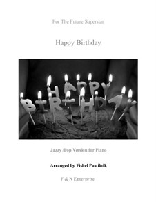 Happy Birthday to You: For piano (jazzy version) by Mildred Hill