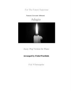 Adagio in G Minor: Pop/jazz version, for piano by Tomaso Albinoni