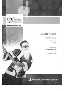 Silent Night: Jazz Waltz, for brass quartet by folklore