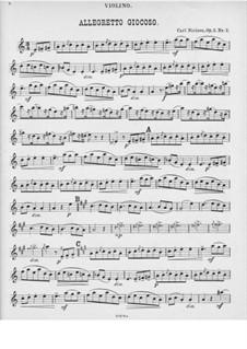 Five Piano Pieces, FS 10 Op.3: No.2 Humoresque for piano trio – violin part by Carl Nielsen