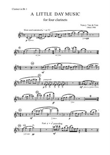 A Little Day Music: Parts by Nancy Van de Vate
