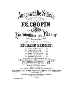 No.2 in E Flat Major: For harmonium and piano by Frédéric Chopin
