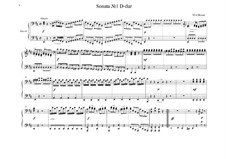Sonata for Piano Four Hands in D Major, K.381: Full score by Wolfgang Amadeus Mozart