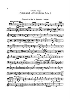 March No.4: Percussion parts by Edward Elgar