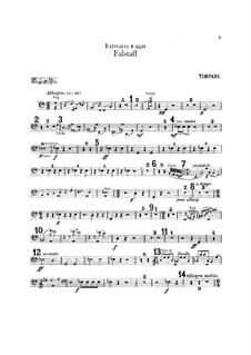 Falstaff. Symphonic Study, Op.68: Percussion parts by Edward Elgar