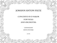 Concerto in D Major: For viola and orchestra by Antonio Filtz