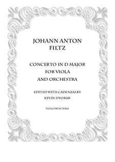 Concerto in D Major: For viola and piano by Antonio Filtz