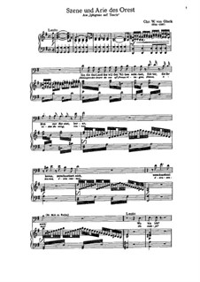 Iphigenia in Tauris, Wq.46: Szene und Arie des Orest by Christoph Willibald Gluck