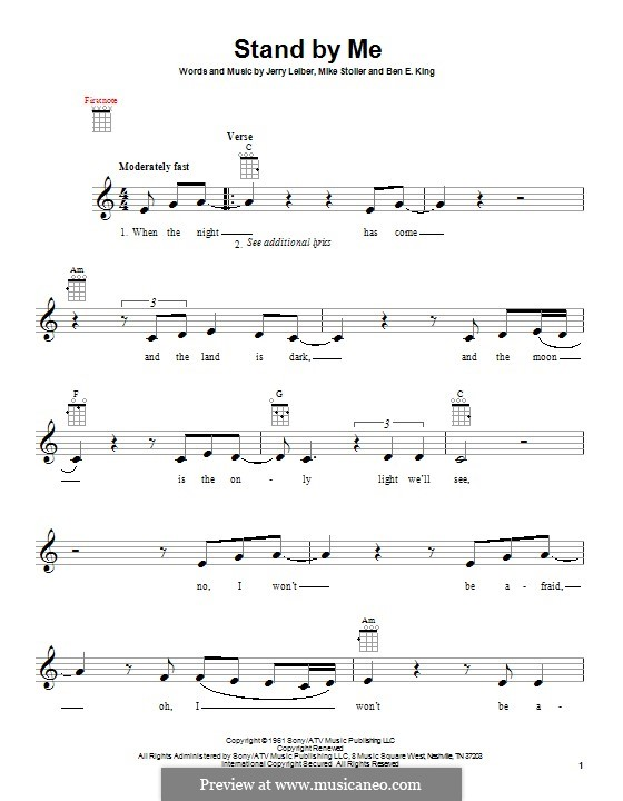 Stand By Me: For ukulele by Ben E. King, Jerry Leiber, Mike Stoller