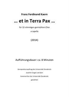 ... et in Terra Pax ... (2014): ... et in Terra Pax ... (2014) by Franz Ferdinand Kaern