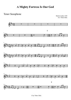 A Mighty Fortress Is Our God: For tenor saxophone by Martin Luther