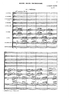 Suite in D Major, Op.49: Full score by Camille Saint-Saëns