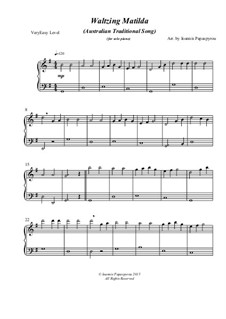 Waltzing Matilda: For solo piano by folklore