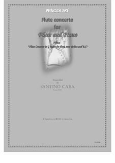 Flute Concerto in G Major: Arrangement for flute and piano, CS1137b by Giovanni Battista Pergolesi
