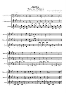 Arietta: For two C-instruments and guitar (A Major) by Joseph Küffner