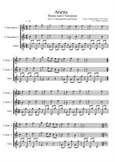 Arietta: For two C-instruments and guitar (C Major) by Joseph Küffner