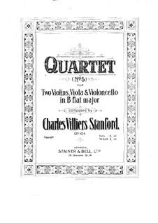 String Quartet No.5 in B Flat Major, Op.104: String Quartet No.5 in B Flat Major by Charles Villiers Stanford