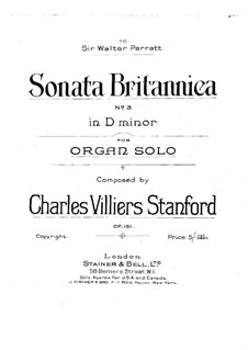 Sonata for Organ No.3 in D Minor, Op.152: Sonata for Organ No.3 in D Minor by Charles Villiers Stanford