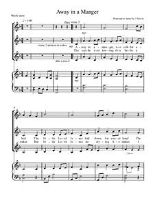 Away in a Manger (Alternative tune): 2/3 part + flute by JJ