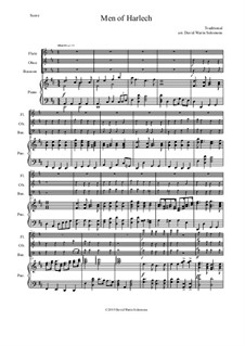 Men of Harlech (Rhyfelgyrch Gwŷr Harlech): For wind trio and piano by folklore, David W Solomons
