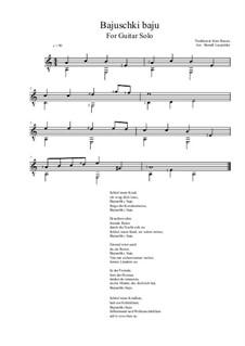 Bajuschki baju: For guitar solo (easy version) a minor by folklore