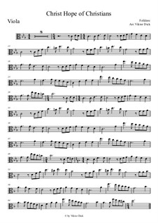 Christ Hope of Christians: For viola by folklore