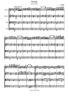 Selected Themes: Suite, for string quartet by Georges Bizet