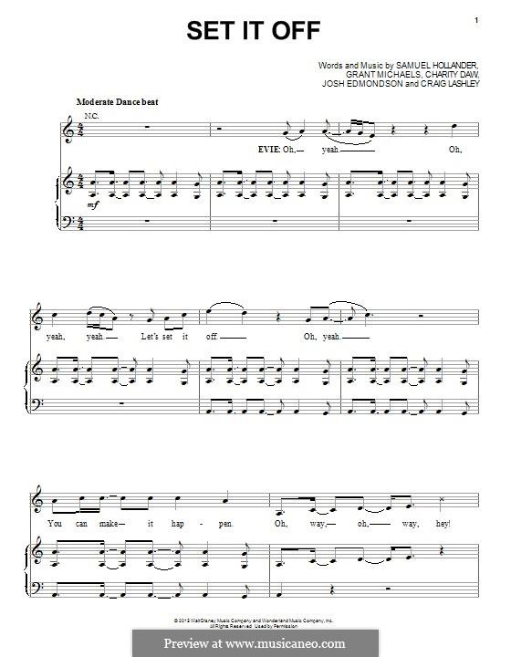 Set It Off: For voice and piano (or guitar) by Sam Hollander, Josh Edmondson, Grant Michaels, Craig Lashley, Charity Daw
