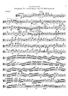 Symphony No.5 in D Major 'Reformation', Op.107: Viola part by Felix Mendelssohn-Bartholdy