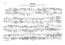 March in D Major for Orchestra, Op.108: Version for piano four hands by Felix Mendelssohn-Bartholdy