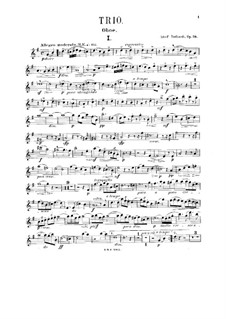 Trio for Oboe, Viola and Piano, Op.34: Oboe part by Adolf Ruthardt