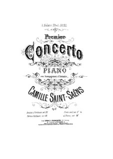 Concerto for Piano and Orchestra No.1 in D Major, Op.17: Version for two pianos four hands by Camille Saint-Saëns