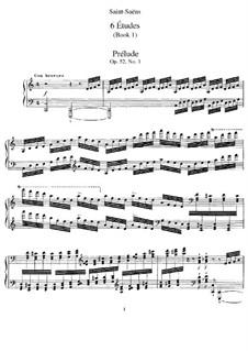 Six Etudes, Op.52: Complete set by Camille Saint-Saëns