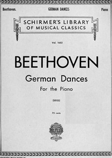 German Dances: For piano by Ludwig van Beethoven
