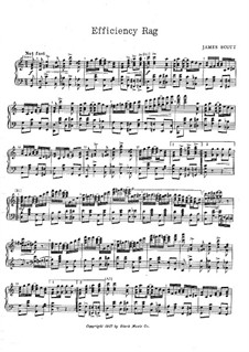 Efficiency Rag: For piano by James Scott