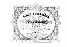 Simon Boccanegra: Arrangement for voices and piano by Giuseppe Verdi