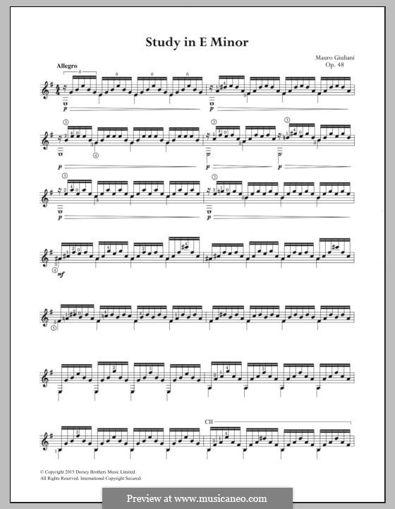 Twenty-Four Etudes for Guitar, Op.48: Etude No.5 by Mauro Giuliani