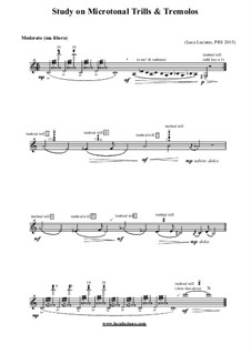 Study on Microtonal Trills and Tremolos: Study on Microtonal Trills and Tremolos by Luca Luciano