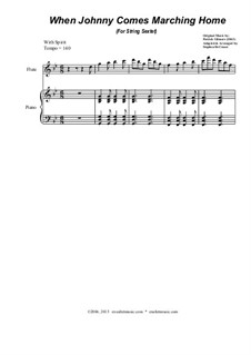 When Johnny Comes Marching Home: For string sextet by Patrick Sarsfield Gilmore