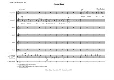 Sanctus for SSAATB and Percussion: Sanctus for SSAATB and Percussion by Hans Bakker
