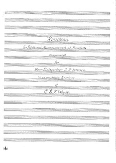 Rondeau, for Flute and Piano: Rondeau, for Flute and Piano by Christopher Ernst Friedrich Weyse