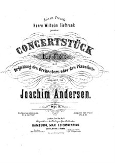 Concert Piece No.1 for Flute and Orchestra (or Piano), Op.3: Version for flute and piano – solo part by Joachim Andersen