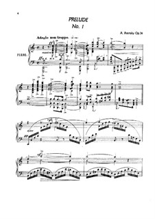 Twenty-Four Characteristic Pieces, Op.36: No.1-6 by Anton Arensky