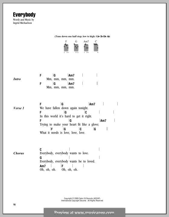Everybody: For ukulele by Ingrid Michaelson