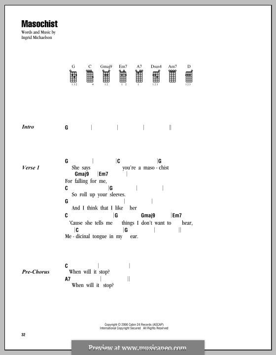 Masochist: For ukulele by Ingrid Michaelson