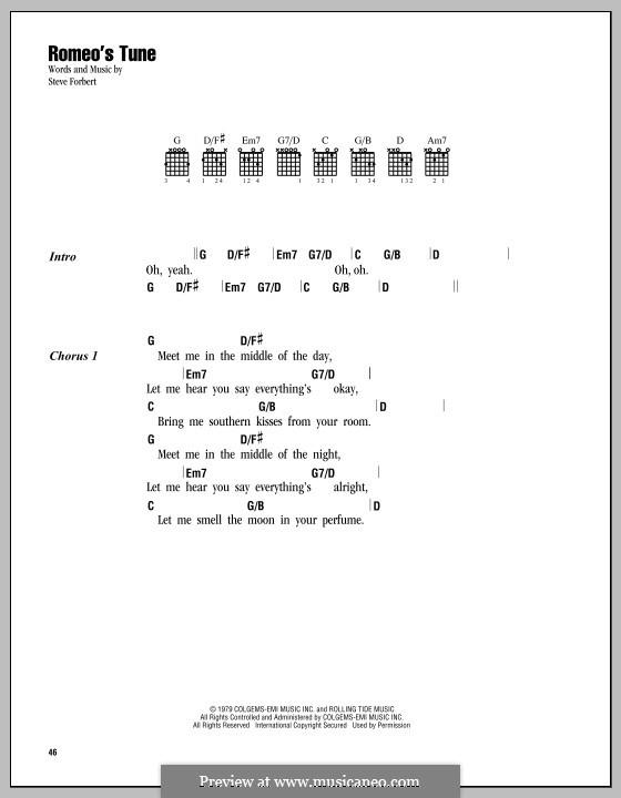 Romeo's Tune: Lyrics and chords by Steve Forbert