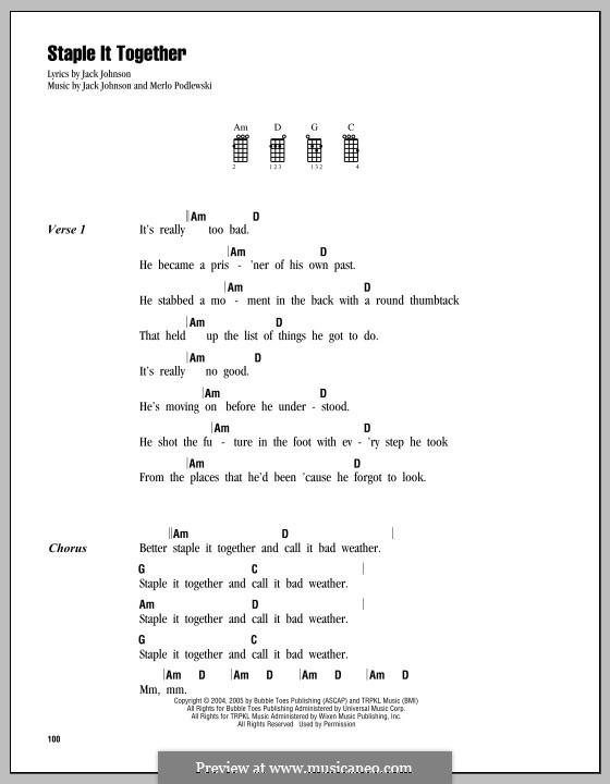 Staple It Together: For ukulele by Merlo Podlewski