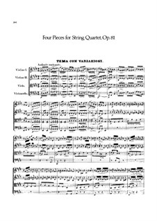 Four Pieces for String Quartet, Op.81: Complete set by Felix Mendelssohn-Bartholdy