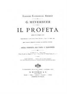 Le prophète (The Prophet): Act I by Giacomo Meyerbeer